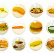 Fast Food - 12 Pcs Home Button iPhone iPad Decals Stickers 3D Semi-circular Bubble