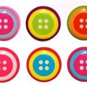Button - 6 Piece Home Button Stickers for Apple iPhone, iPad, iPad Mini, iTouch