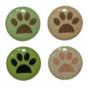 Animal Paws - 8 Piece Home Button Stickers for Apple iPhone, iPad, iPad Mini, iTouch